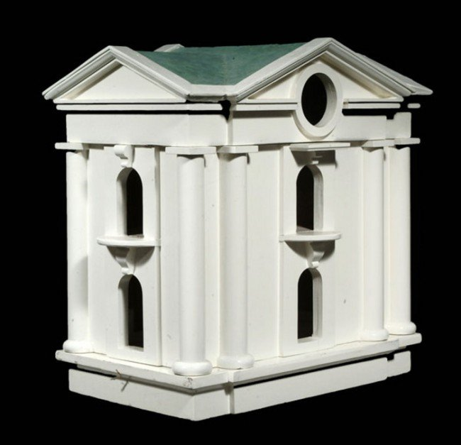 5: A white painted wood dovecot, of recent manufactur