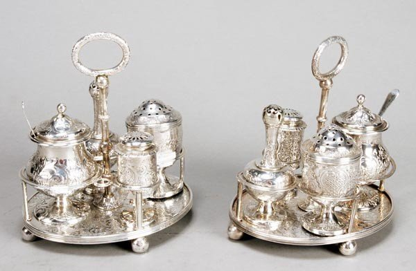 5: A matched pair of Victorian Scottish silver circul