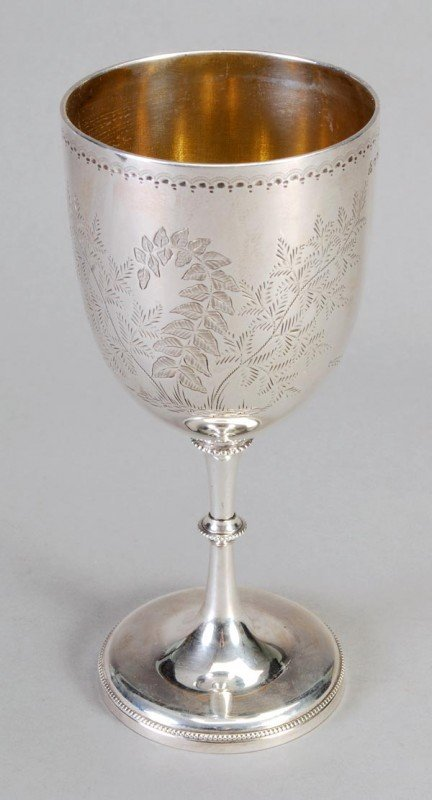 11: A Victorian English provincial silver goblet by Jo