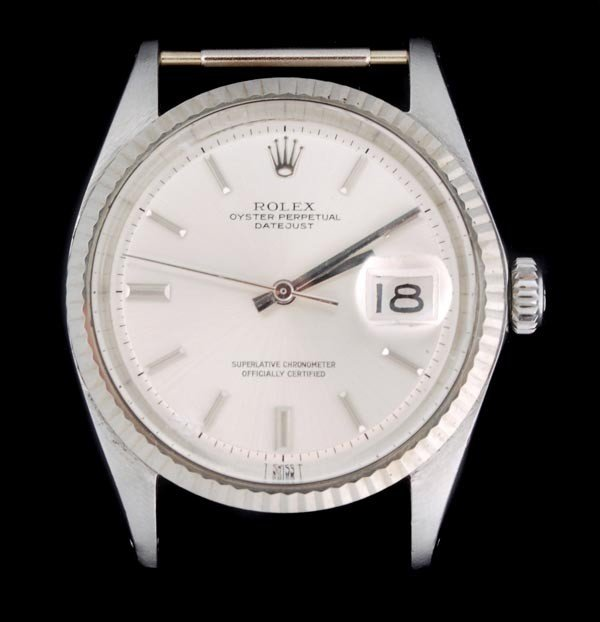 3: * Rolex, Oyster Perpetual DateJust, a mid size sta