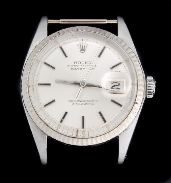 4: * Rolex, Oyster Perpetual DateJust, a mid size sta