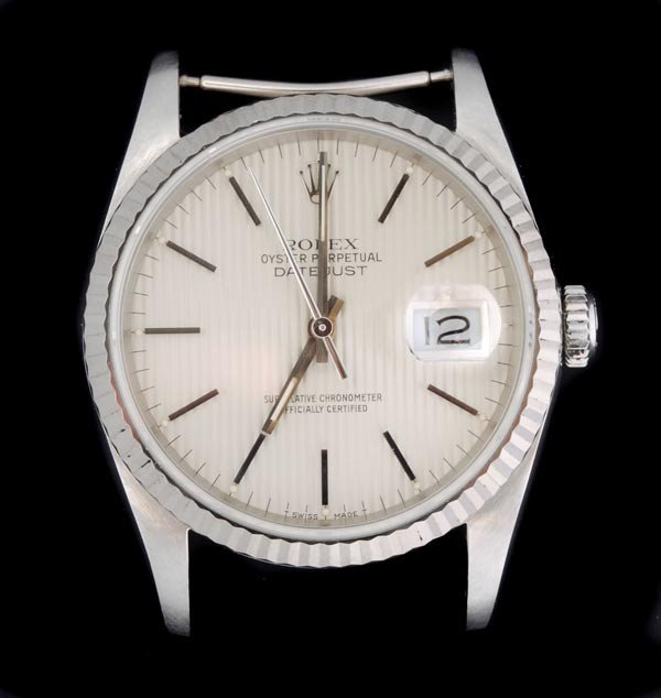 6: * Rolex, Oyster Perpetual DateJust, a mid size sta