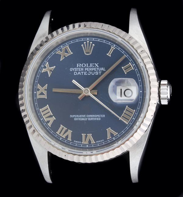 7: * Rolex, Oyster Perpetual DateJust, a mid size sta