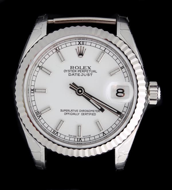 8: * Rolex Oyster Perpetual DateJust, a mid size stai