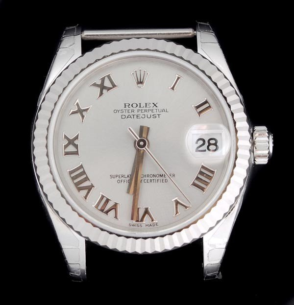 9: * Rolex Oyster Perpetual DateJust, a mid size stai