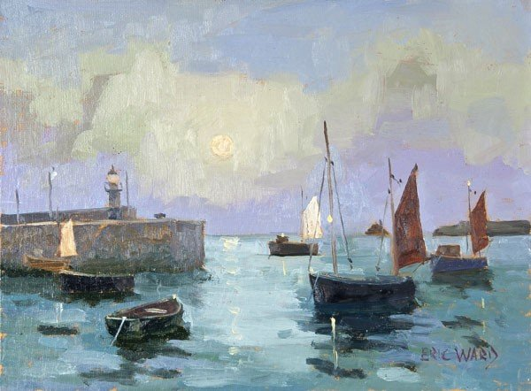 9: Eric Ward (b.1945) St Ives Harbour Oil on canvas l