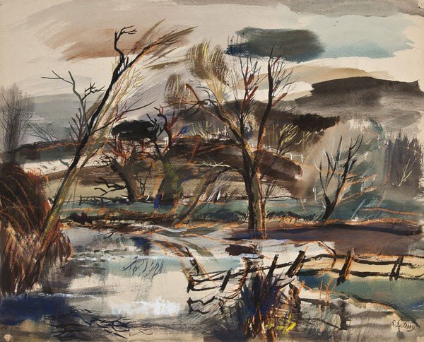 10: Rowland Suddaby (1912-1973) Autumn on the Stour, S