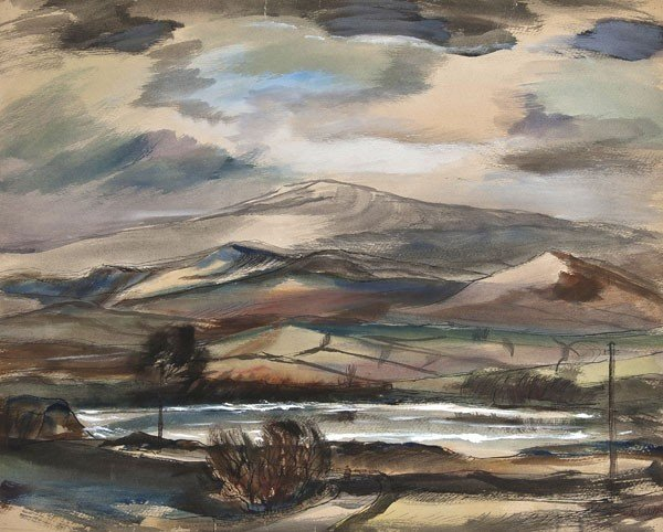 16: Rowland Suddaby (1912-1973) Lake in the High Penni