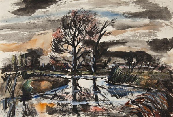 19: Rowland Suddaby (1912-1973) River at Wissington Re