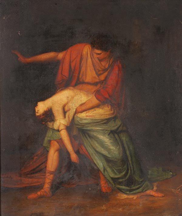 1122: English School (18th century) Cephalus and Procri