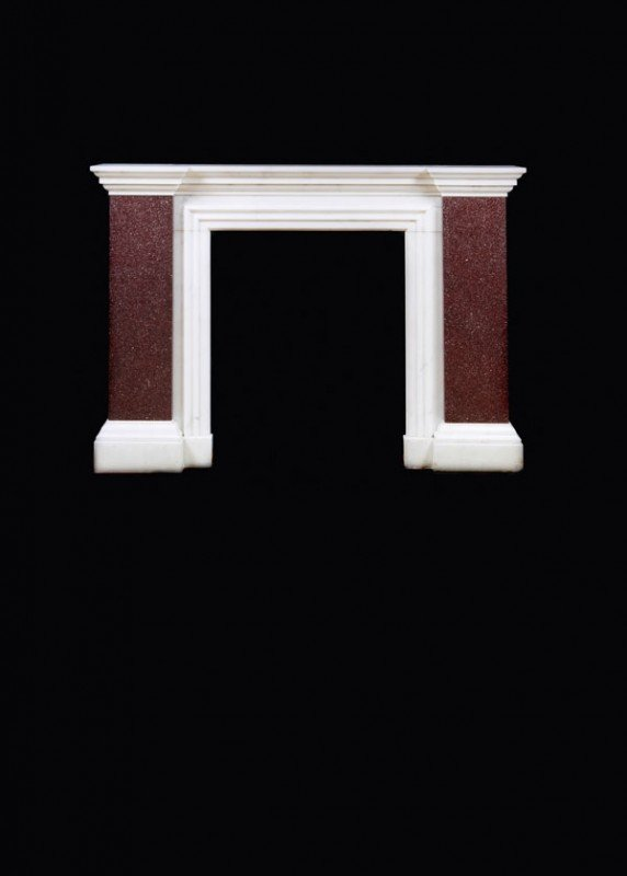 5: A carrara and porphyry chimneypiece, in early 19th