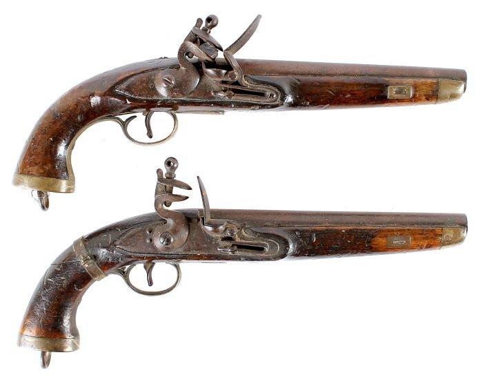 16: A Pair of Flintlock East India Type Regulation Ser