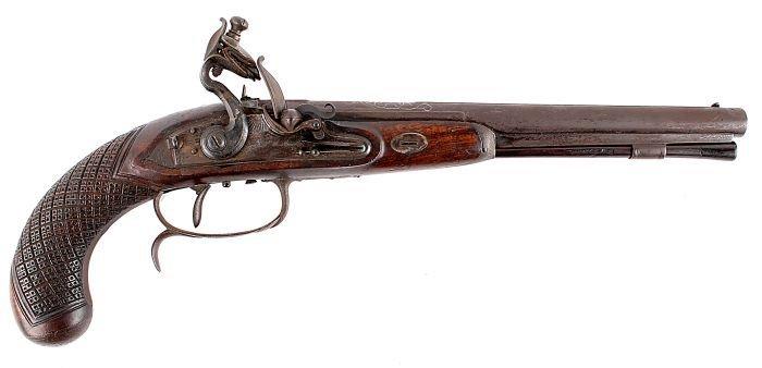 17: An Unusual Flintlock Target Pistol by H.W. Mortime