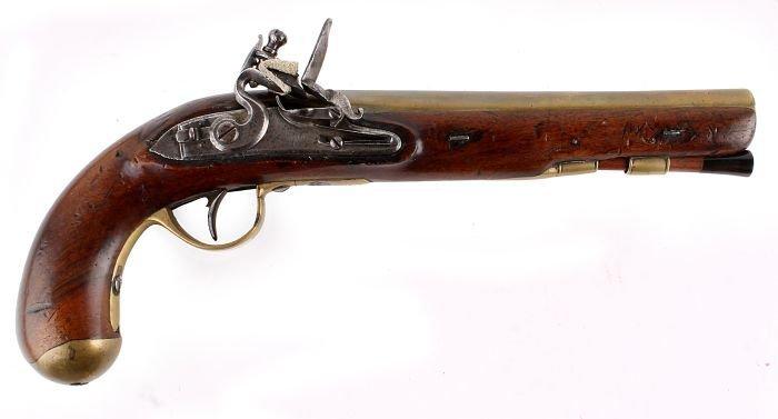18: A Rare Flintlock Royal Mail Coach Guards Pistol by