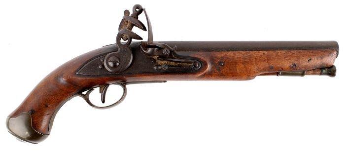 19: A Flintlock Pistol, Late 18th/Early 19th Century,
