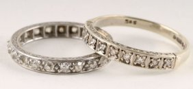 10: A twenty one stone diamond eternity ring, the old