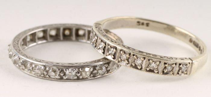 10: A twenty one stone diamond eternity ring, the old