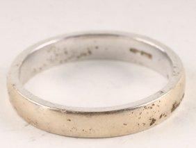 N 18 Carat White Gold Wedding Ring, Of Shallow D S