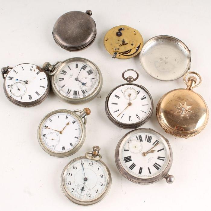 329: A silver open faced pocket watch, Birmingham 1900