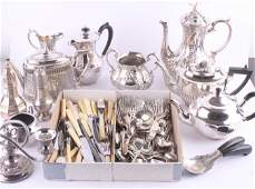 526 A Victorian three piece plated coffee service wit