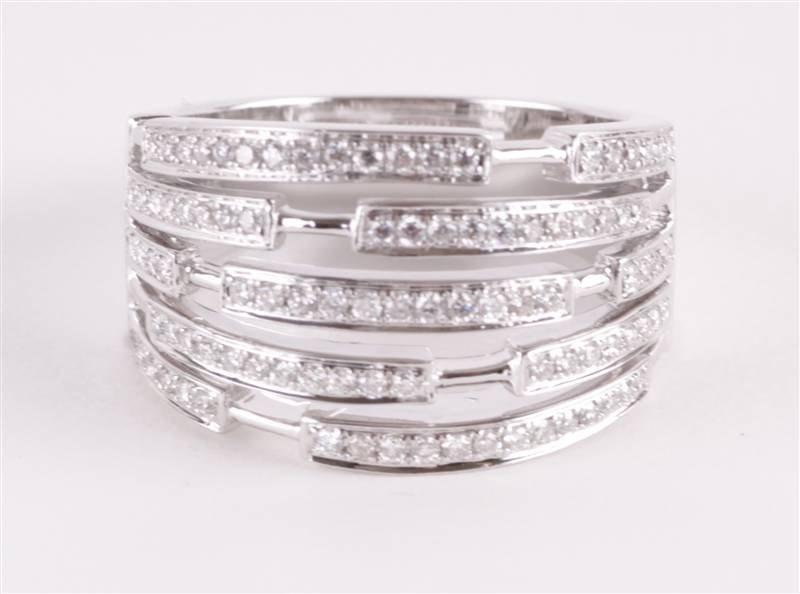 A diamond dress ring, the ninety brilliant cut dia