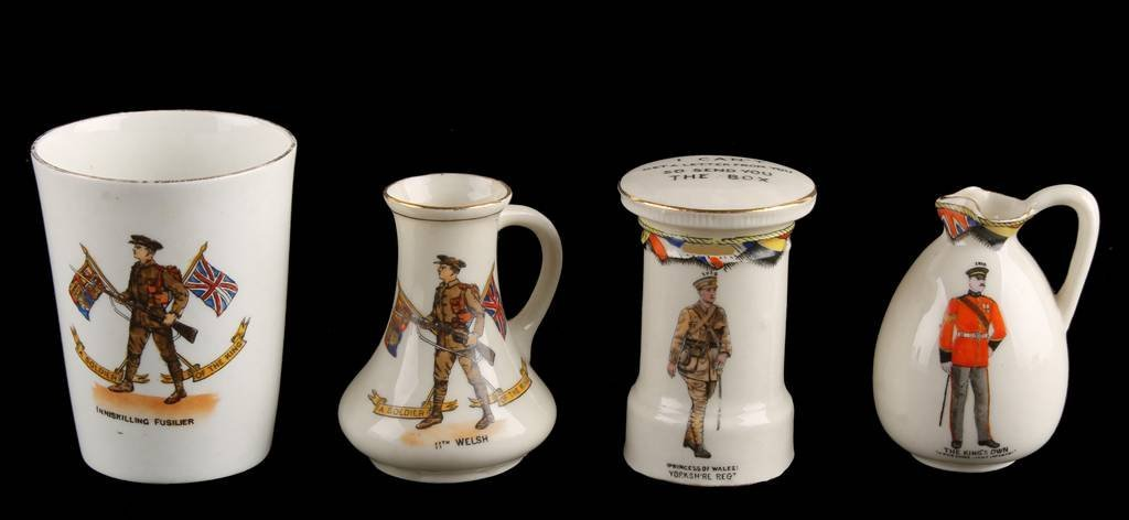 Model of a Beaker by Patriotic China, with a colou