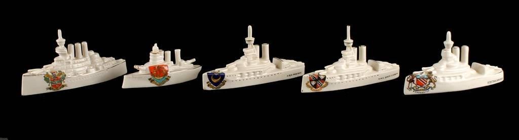 Model of Battleship by Savoy China, H.M.S. Iron Du