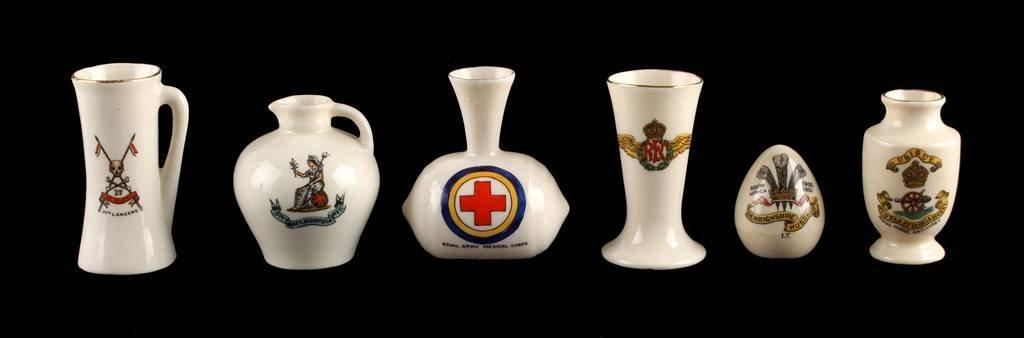 A Collection of Six Regimental 'Smalls', comprisin
