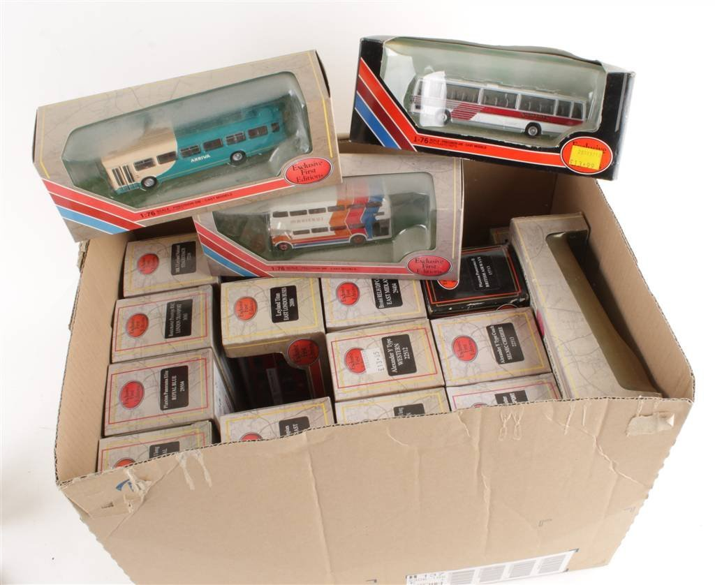 Twenty assorted Exclusive First Editions model bus