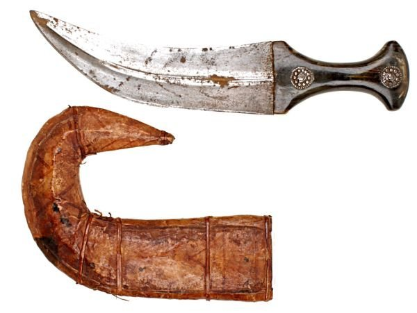 A North African Jambiya Dagger, of typical form, t