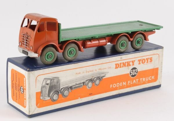 A Dinky No.502, Foden Flat Truck,  second type cab