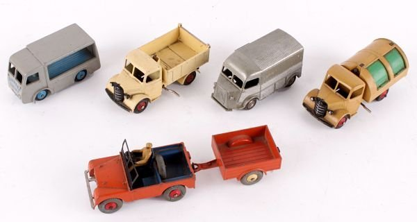 A Dinky No.25m, Bedford End Tipper,  cream with re