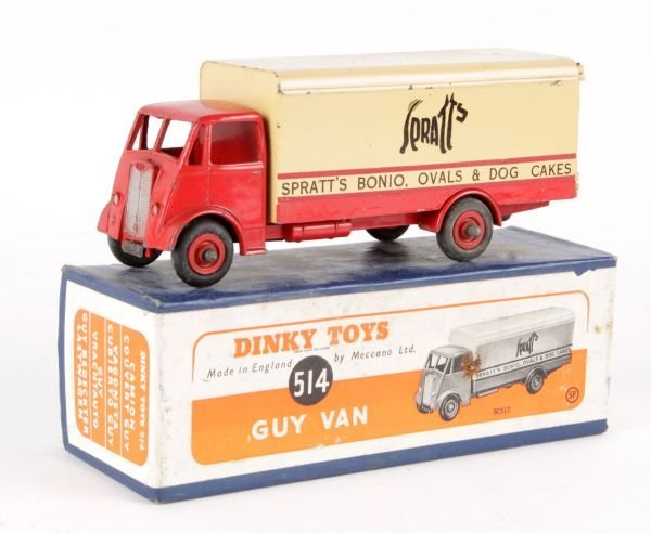 A Dinky No.514, Guy Van 'Spratts',  first type cab