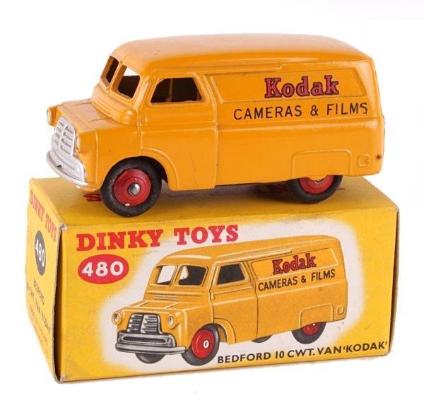 A Dinky No.480, Bedford 10cwt Van 'Kodak',  dark y