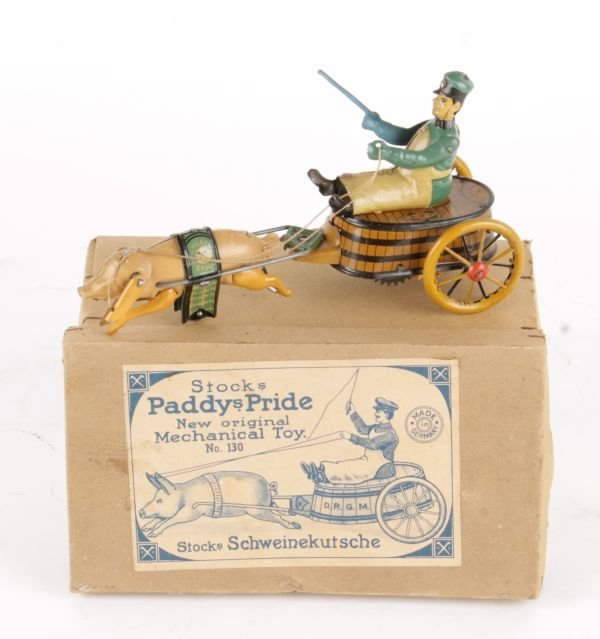 Stocks Paddys Pride. Mechanical Toy, A Stock's 'Pa