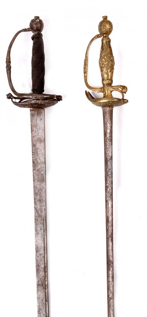A Brass Hilted Smallsword , with a hollow ground 7