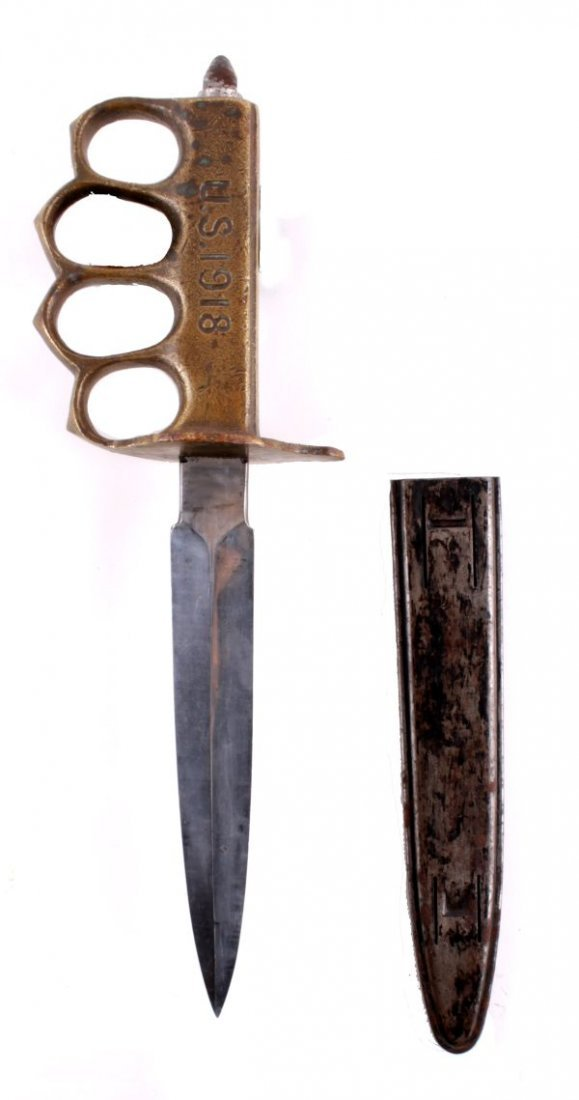 A Great War U.S. 1918 Mark 1 Trench Knife Aulion , - 2