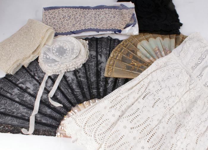 A late Victorian child's broderie anglais and lace