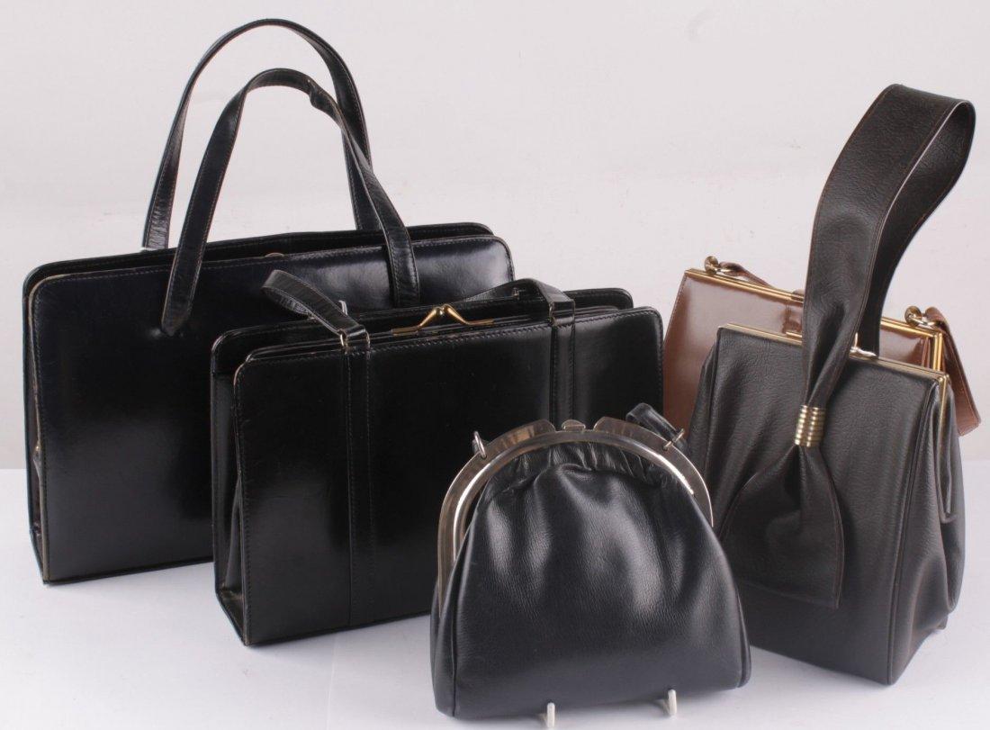 A quantity of vintage handbags, comprising an Asprey
