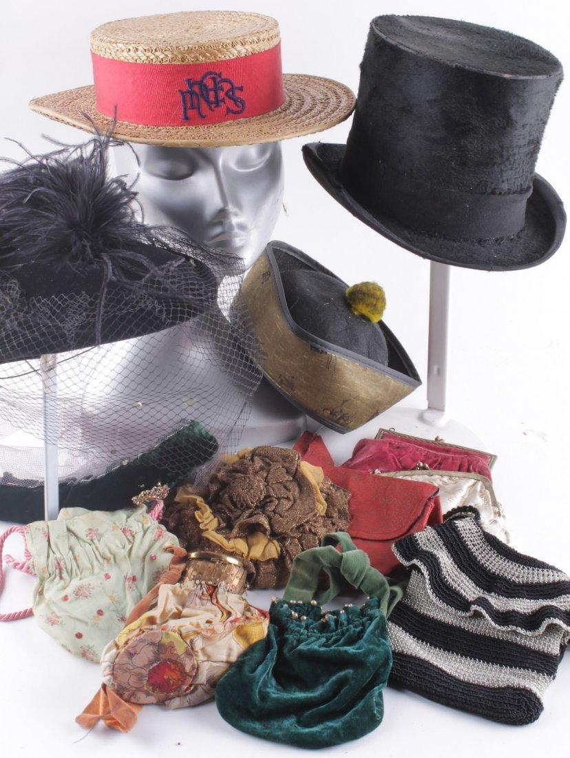 A 1930s ladies black felt hat; a 1950s 'Sharon Lee'