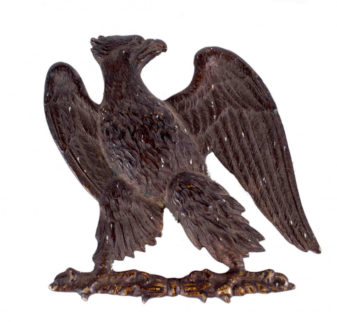 A Cast Brass Prussian Eagle Device 19th Century