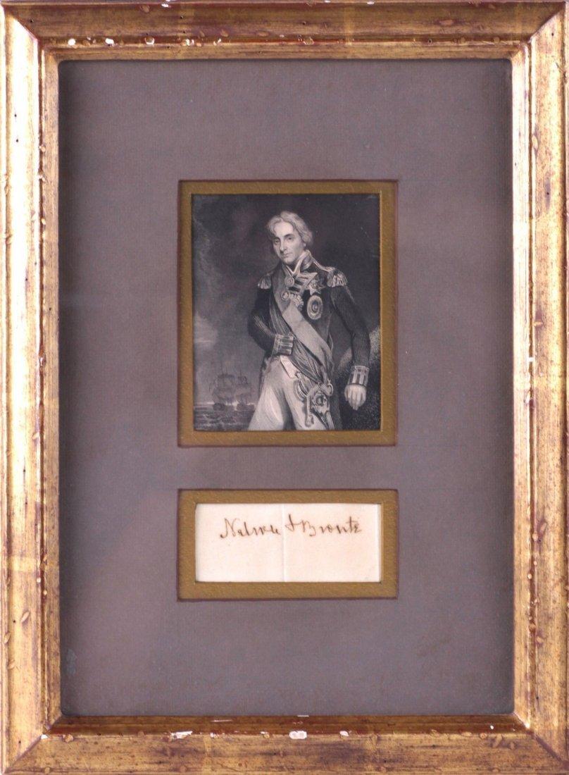 Horatio Nelson, 1st Viscount Nelson . An autographed