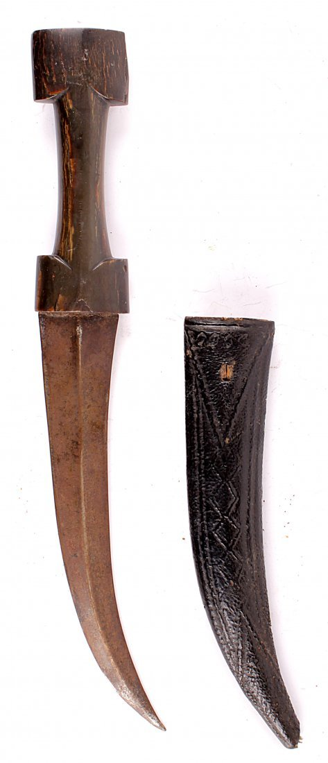 A North African Dagger Jambiya of typical form with a