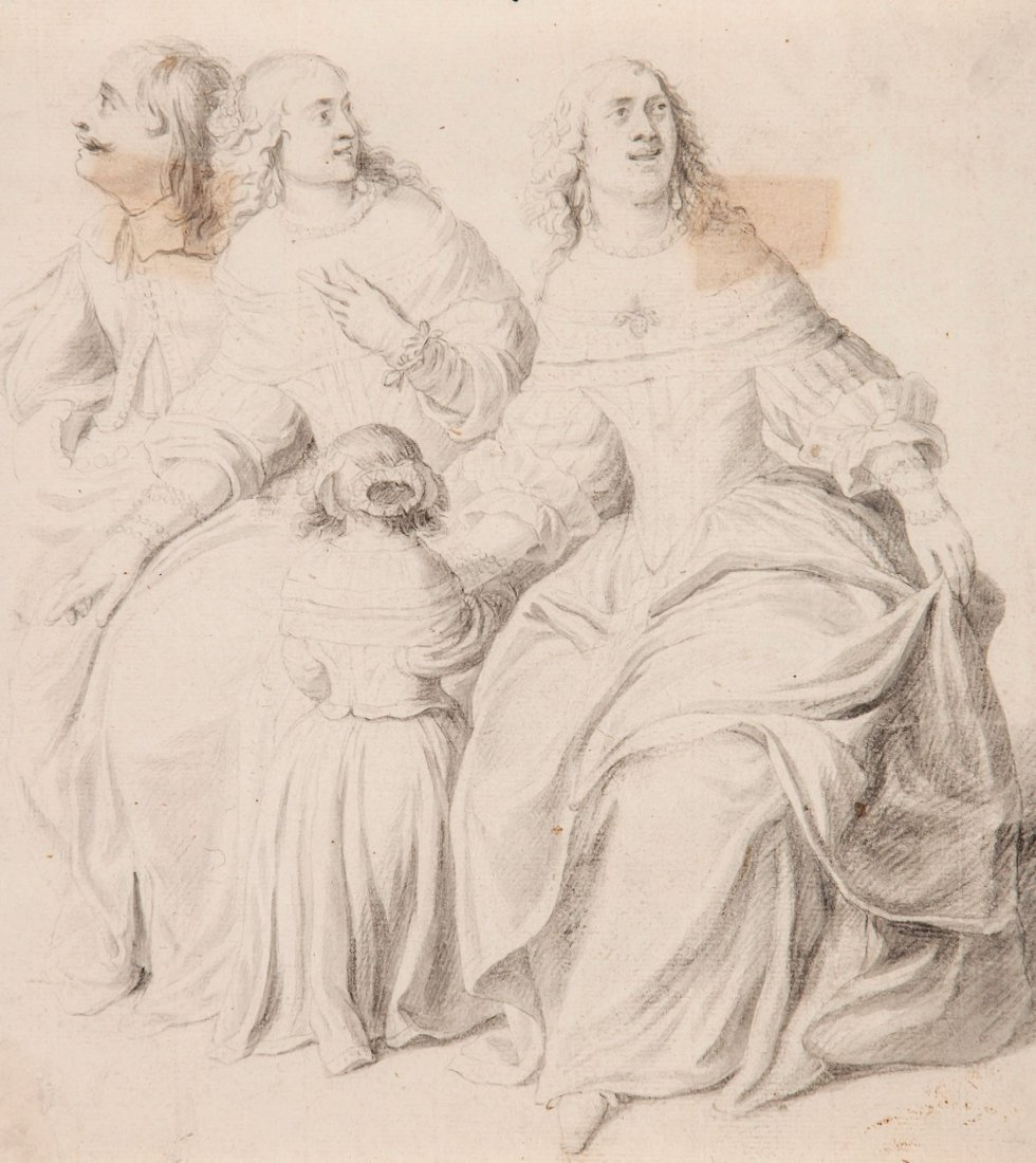 English School (18th Century) - A group portrait of two