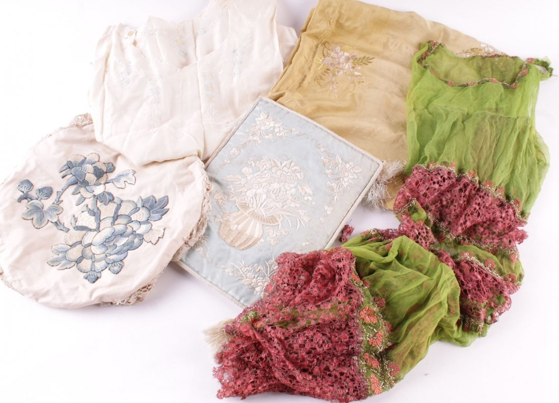 A quantity of textiles and costume, including