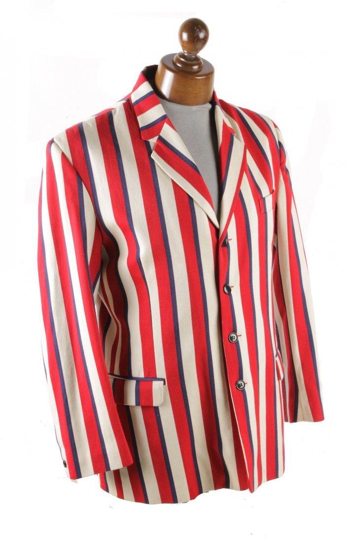 Four gentlemen's vintage striped blazers, comprising