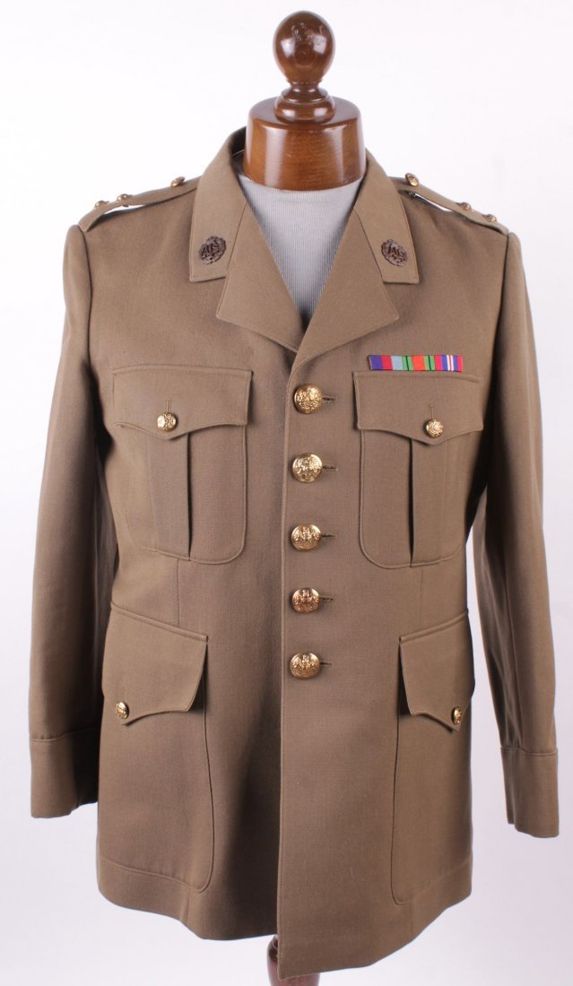 A quantity of military uniforms and related items,