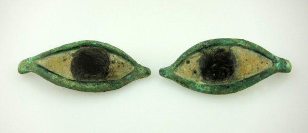 4: Pair of Egyptian Bronze Eyes