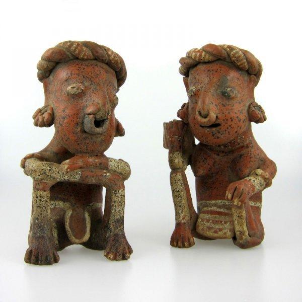 5: Pair of Very Fine Pre-Columbian Nayarit Figures