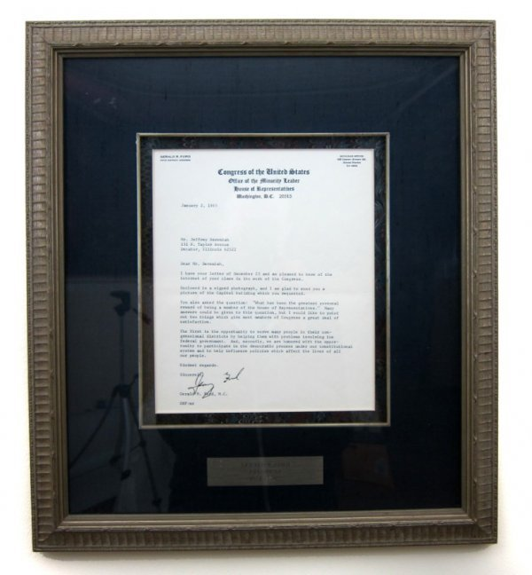 10: Autographed Letter, Gerald Ford (1913-2006)